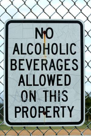 A Geen teken voor alcoholhoudende dranken