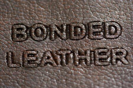 A Bonded leather tag Stok Fotoğraf
