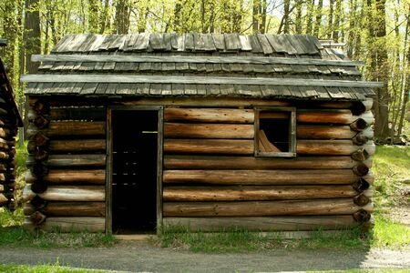 A Revolutionary War troop cabins photo