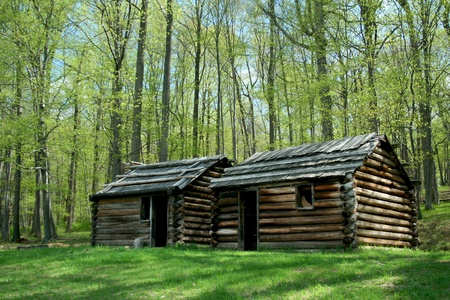 A Revolutionary War troop cabins