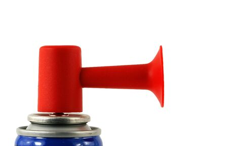 A Isolated air horn on white