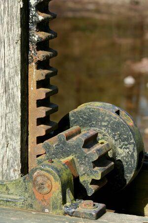 A Old rusty metal gear