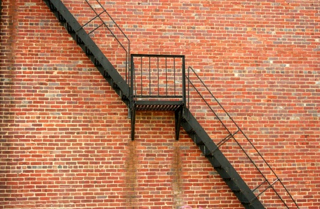 Fire escape on the sife of a building photo