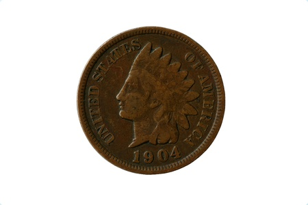 Old 1904 indian head penny
