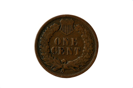 Old 1904 indian head penny back Stock Photo - 13654864
