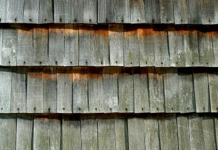 cedar shakes: Un viejo sacudida del cedro de pared de fondo