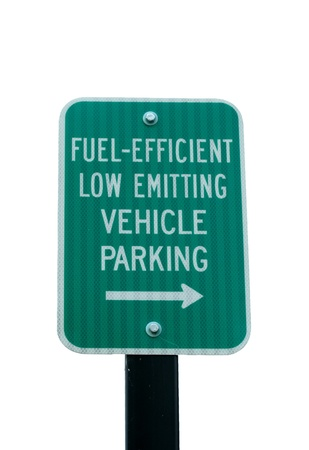 A Fuel Efficient parking sign image Imagens