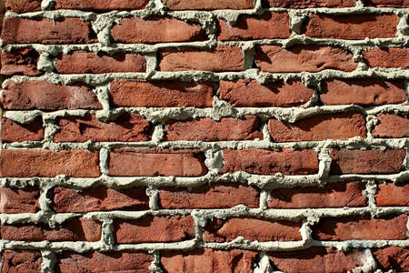 A Red brick wall background Imagens