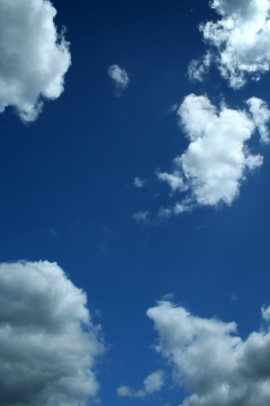 Blue sky with white clouds background image