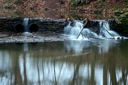 A small flowing waterfall image