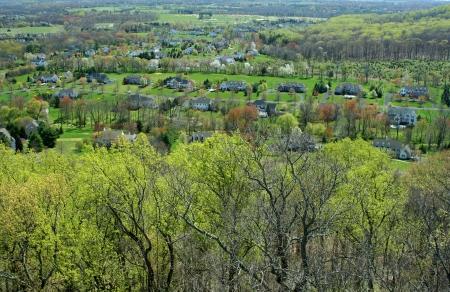 上から小さな住宅コミュニティ 写真素材 - 20011123