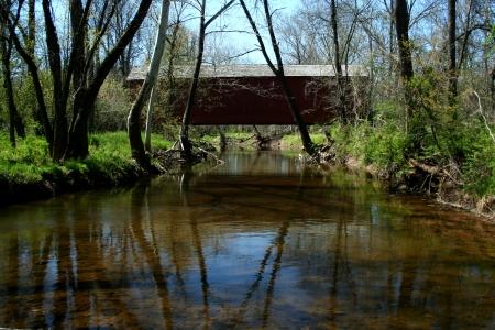 ヴァン トサンド覆われた橋 写真素材