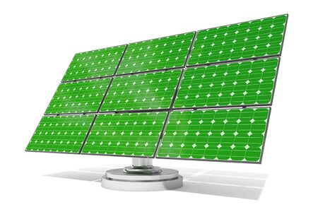 environmental conservation: Illustration of green solar panel representing concept of environment conservation Stock Photo