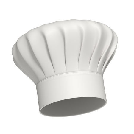 3d rendered white chef hat isolated on white background - High quality Stock Photo - 10824440