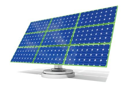 3d rendered blue solar panel photo