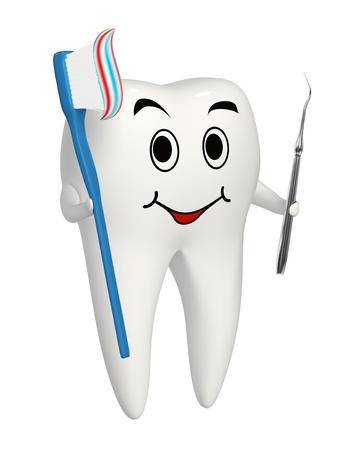 trinchante: No es necesario tallador si se lava los dientes Foto de archivo