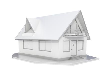 3d rendered white real estate isolated on white background Standard-Bild