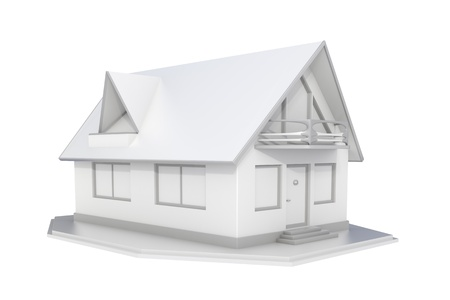 3d rendered white real estate isolated on white background Stock Photo - 11688331