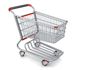 Photo-realistic Shopping cart isolated photo