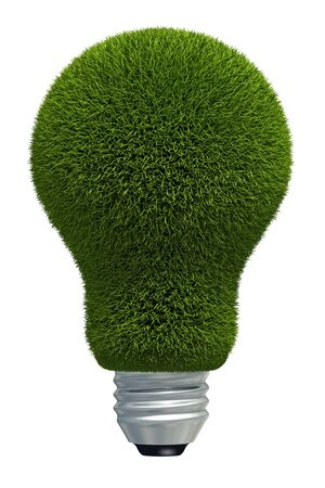 coated: Grass coated concept bulb