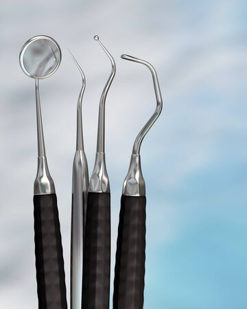 Photorealistic highly detailed dental instruments Stock Photo - 12181400