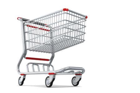 Photo-realistic Shopping cart isolated photo