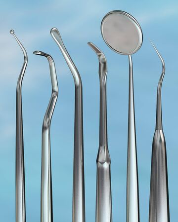 Photorealistic highly detailed dental instruments photo