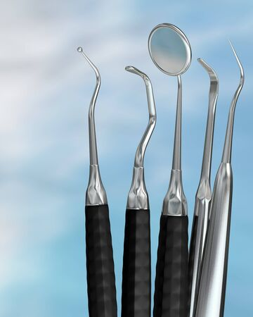 Photorealistic highly detailed dental instruments Stock Photo - 12181327