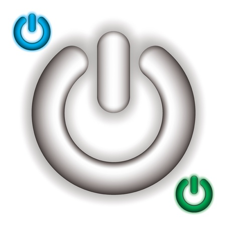 power vector: Power on vector icon set on white bacground