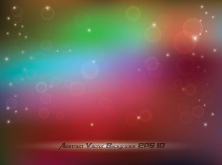 Abstract colorful soft background with bokeh and glow effects Vector