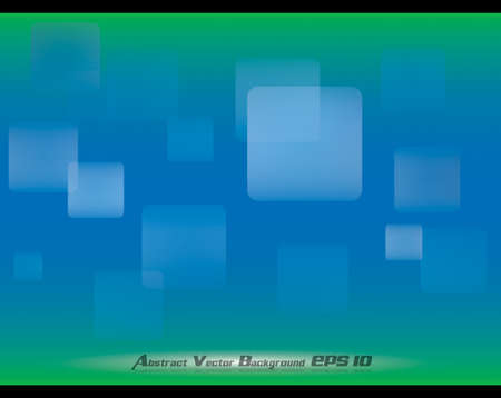 Abstract blue green soft background with rectangular bokeh effects Vector