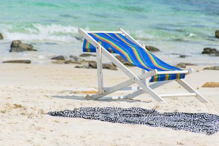 wonderfull: Beach towels on the beautiful beach in wonderfull day
