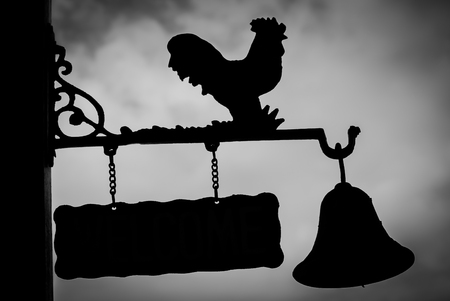 rooster weather vane: Signs Chicken Very beautiful silhouette.