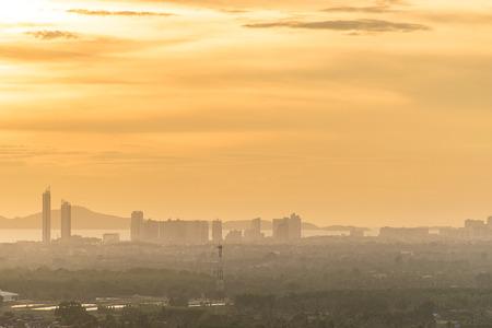 pattaya: pattaya city during sunset