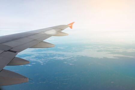 air: aircraft wing on the air.