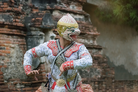 khon: Khon is Traditional Thai drama dance perform at the old capital city of Thailand Ayuthaya.