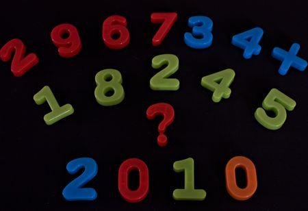 almanac: Next year 2010 on black