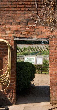 Doorway leading to a Kitchen garden Stock Photo