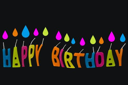 Happy birthday in bright colored leters