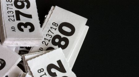 Cloakrooom or raffle tickets with copy space