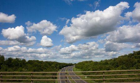 Blue skies over the motorway