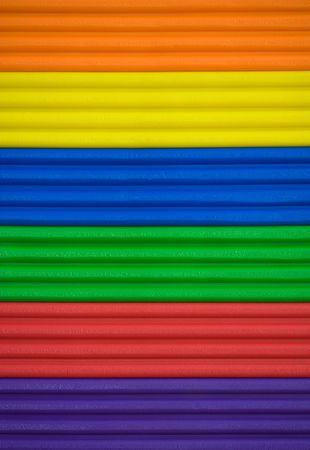 Bars of brightly coloured plasticine