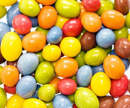 Candy coated peanuts, full frame view Stock Photo