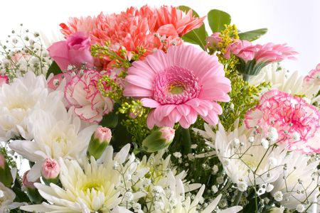 Beautiful  flower bouquet for weddings and summer decoration photo