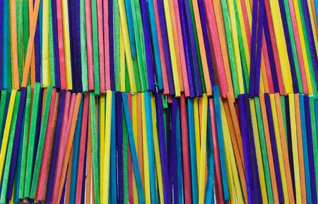 Lots of colored sticks full frame view Stock Photo