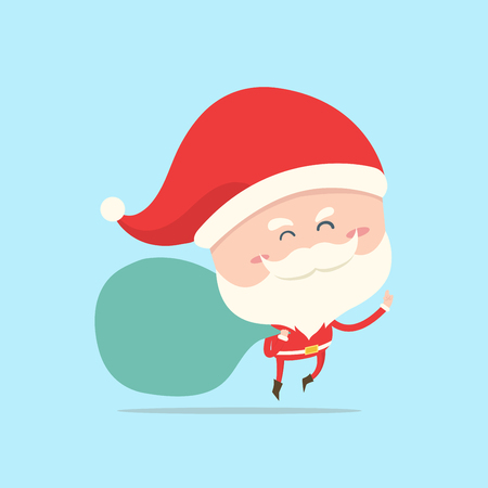 carry bag: santa claus carry big bag of gift,present for christmas