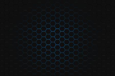 metalic design: abstract Digital futuristic honeycomb background design metalic look