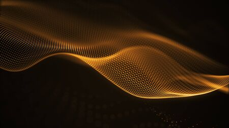 particle luxury gold abstract background wavy movement for happy new year and merry christmas festive season