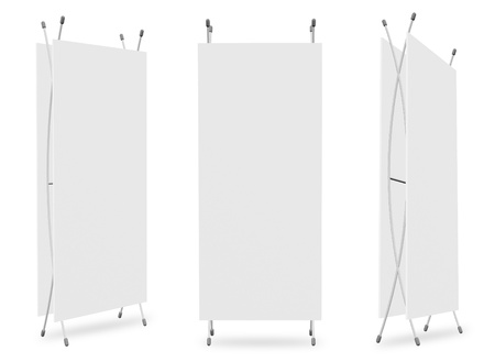 blank banner stand display (3 view) template for design work Stock Photo - 11930185