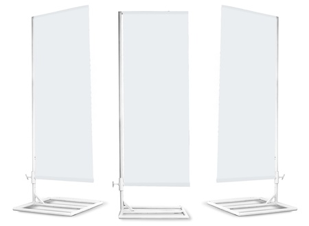 blank banner stand display photo